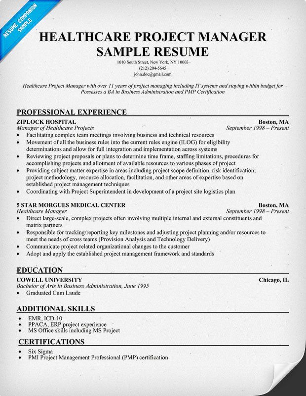 resume samples and to write companion project manager examples healthcare cma skills with Resume Healthcare Project Manager Resume