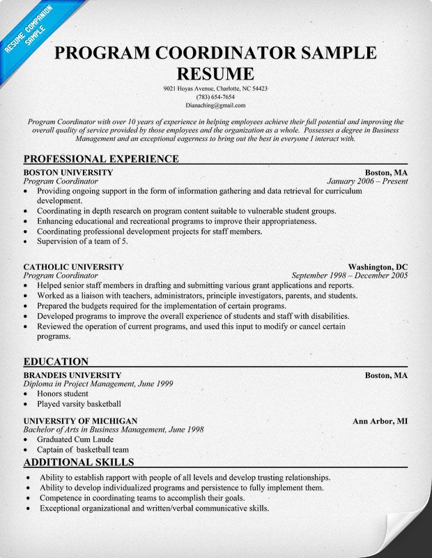 resume samples and to write companion skills cover letter sample examples education Resume Education Program Coordinator Resume