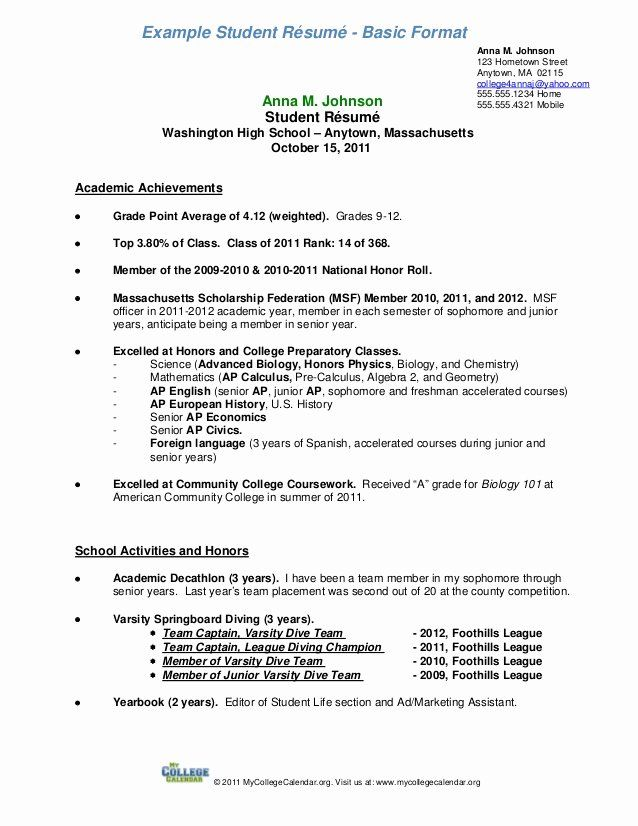 resume samples for college student elegant format in examples template senior clean word Resume College Senior Resume Samples