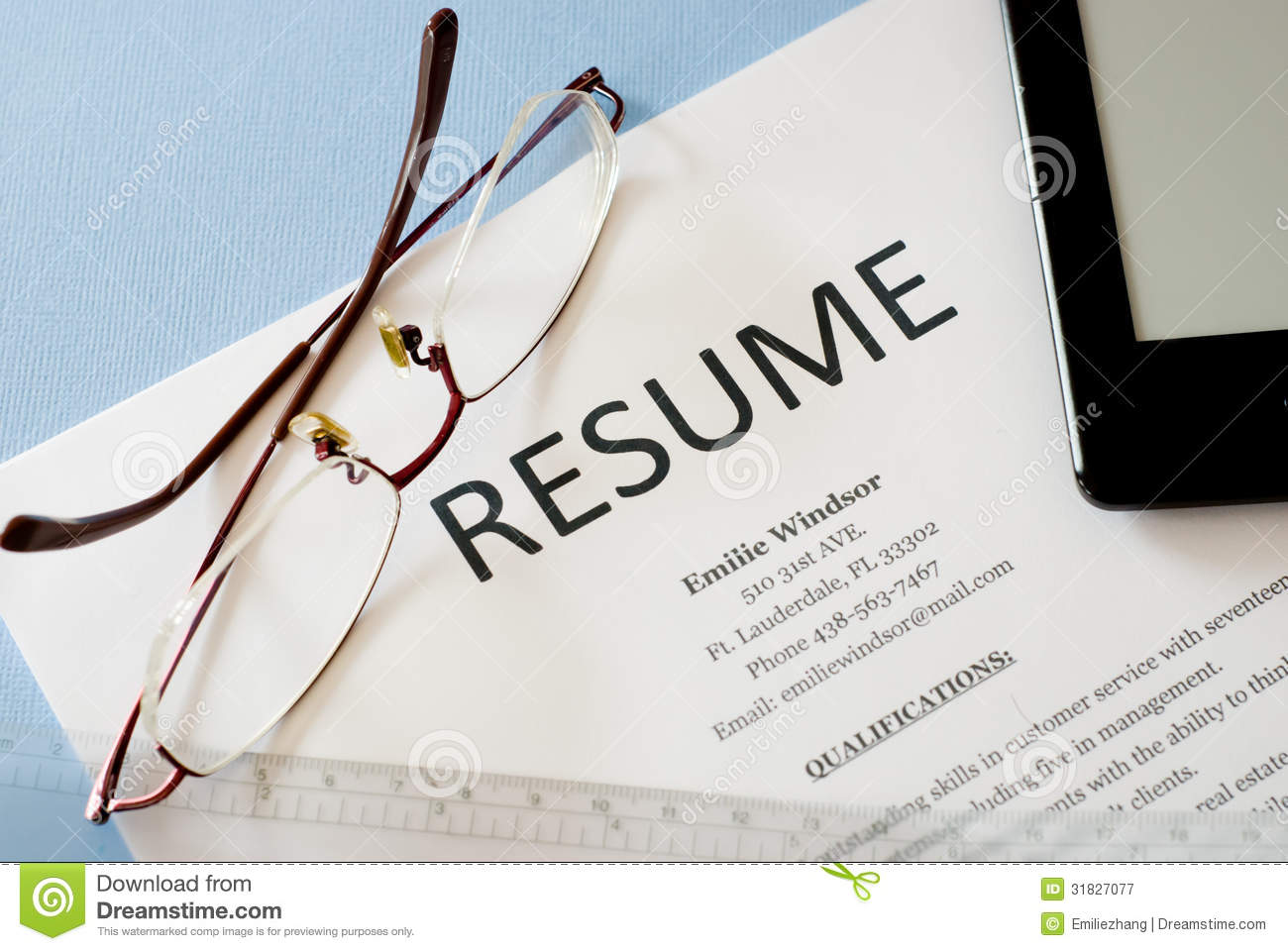 resume stock image of employ search application free photos blue background job concept Resume Free Stock Photos Resume
