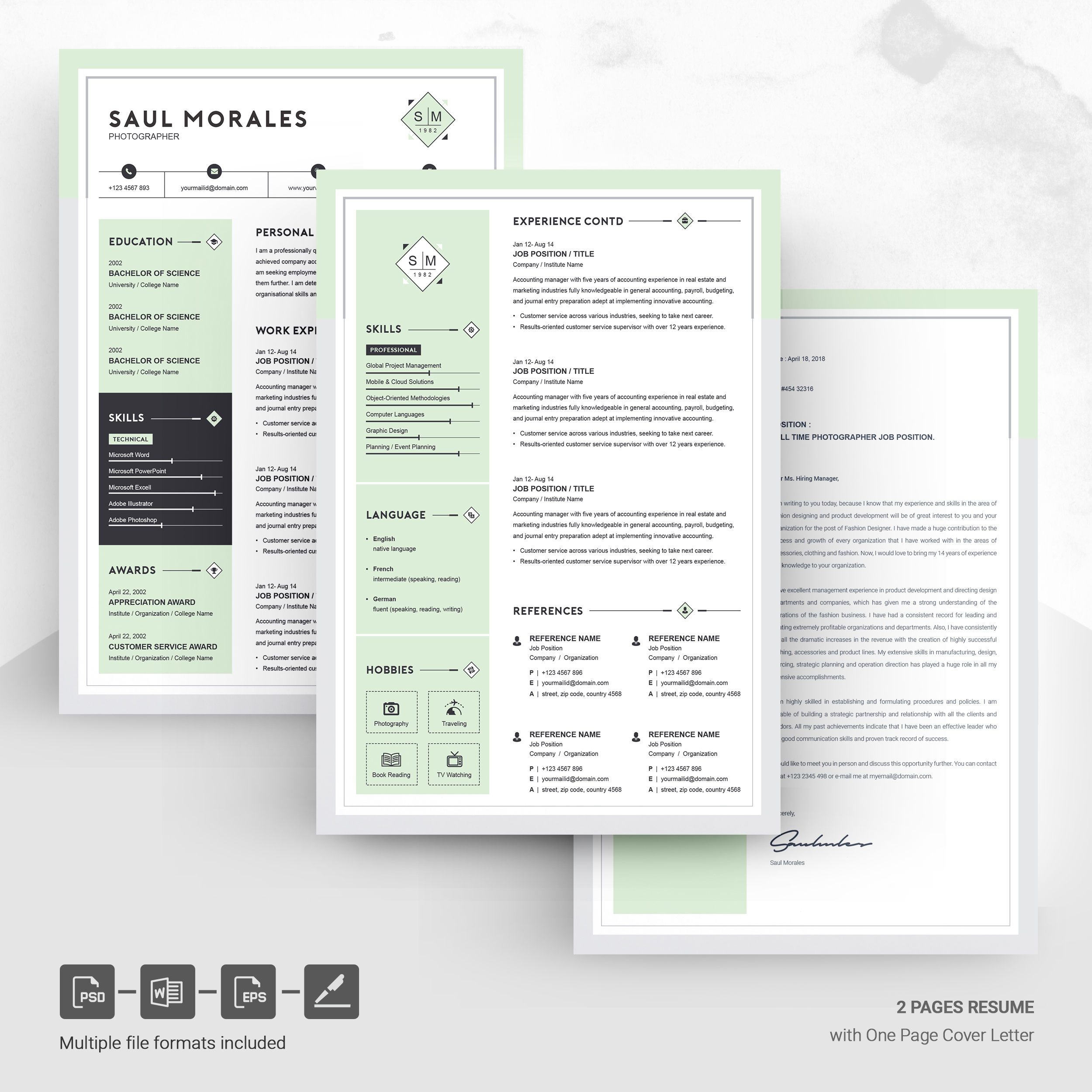resume template cv free resumes templates pixelify net one or two design template5 Resume One Or Two Page Resume 2019