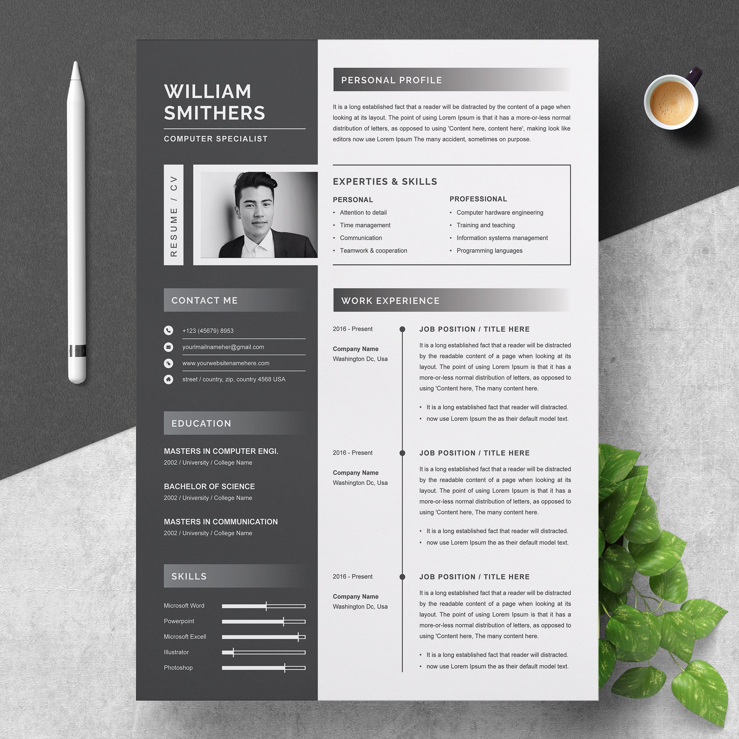 resume template design templates creative market free simple college student for kpmg Resume Creative Market Resume Free
