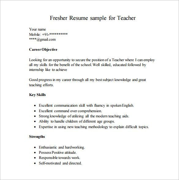 resume template for fresher free word excel pdf format premium templates best in job Resume Best Career Objectives For Resume Of Fresher