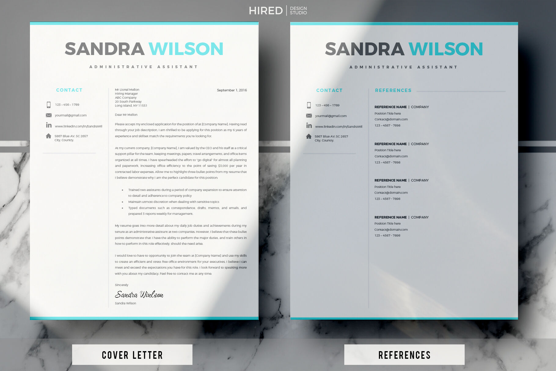 resume template matching cover letter references by hiredds thehungryjpeg free and Resume Free Matching Cover Letter And Resume Templates