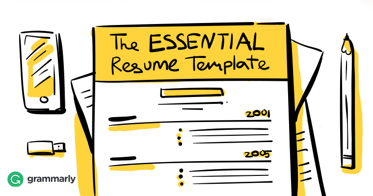 résumé template to include in grammarly blog resume writing the essentials format Resume Grammarly Resume Writing