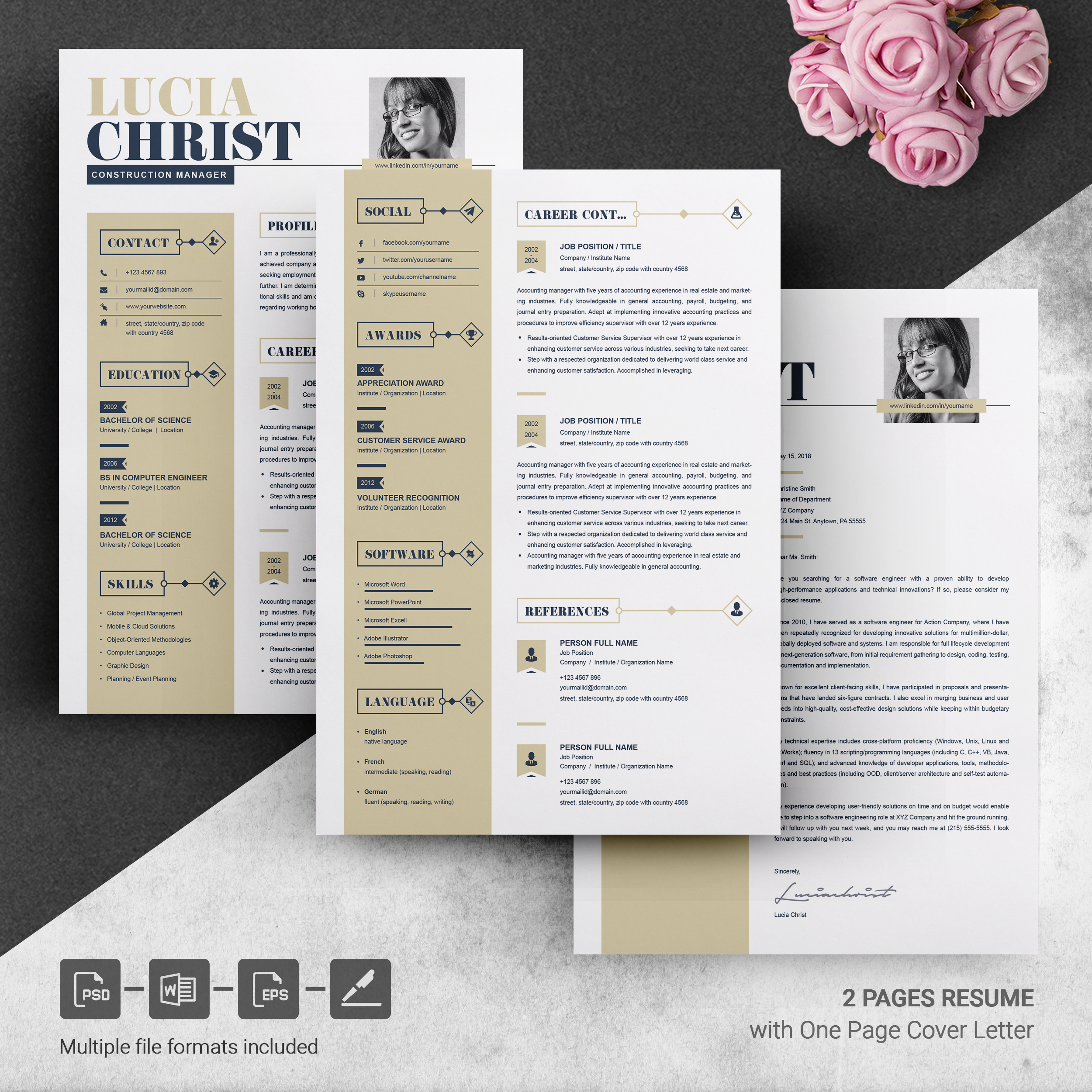 resume template word free resumes templates pixelify net two design template3 treasurer Resume Two Page Resume Template Word