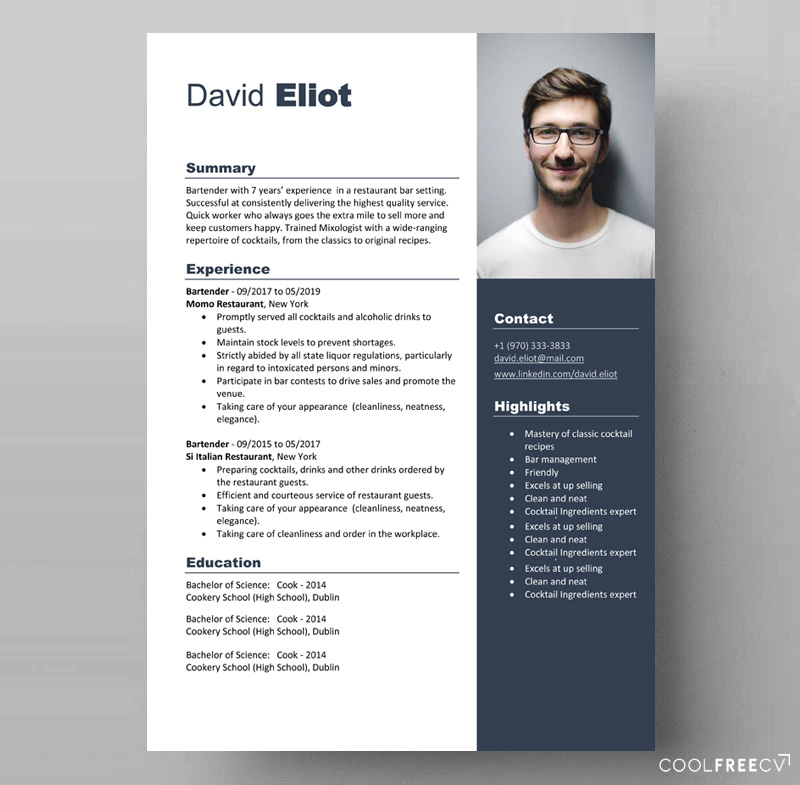 resume templates examples free word bartending template creative bartender plant manager Resume Bartending Resume Template Creative