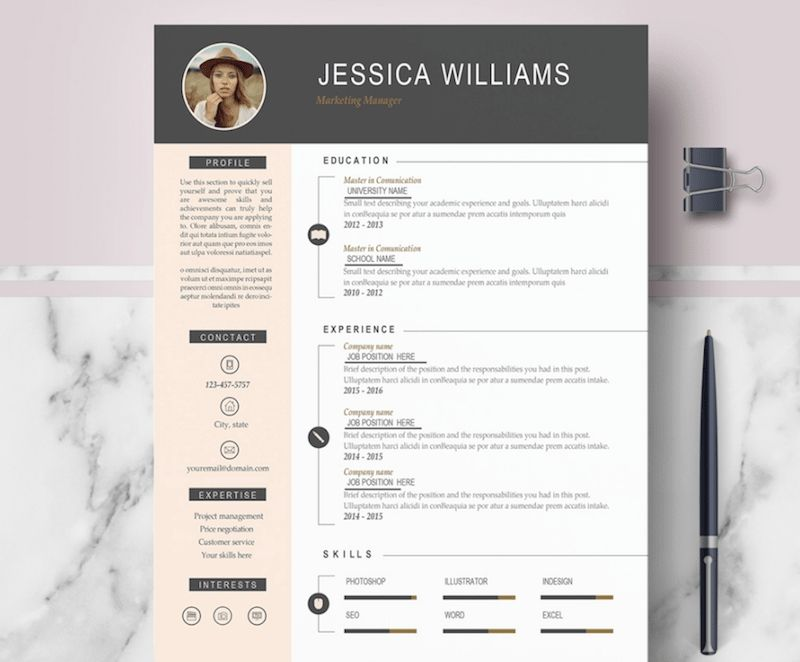 resume templates for microsoft word best of in free cv template casual teaching tips good Resume Free Word Resume Templates 2019