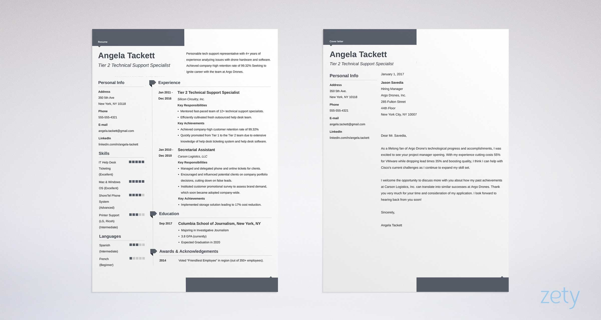 resume templates for microsoft word free two template different examples guaynabo Resume Two Page Resume Template Word