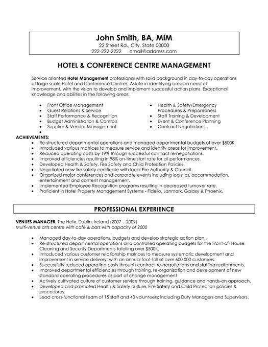 resume templates hospitality cover letter for good examples hotel manager word format Resume Hotel Manager Resume Word Format