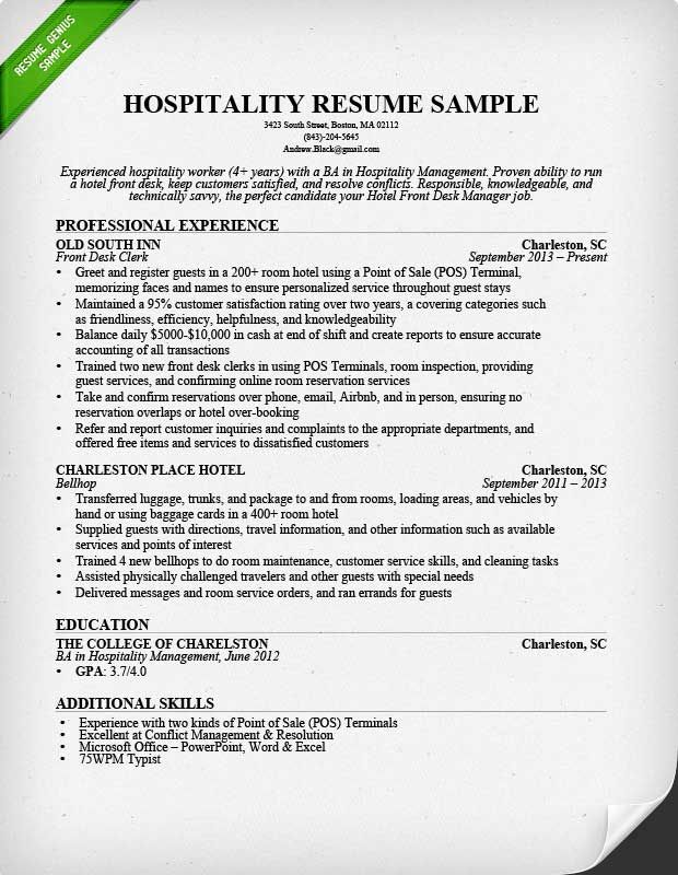 resume templates hospitality writing examples job samples sample over the road truck Resume Hospitality Resume Samples