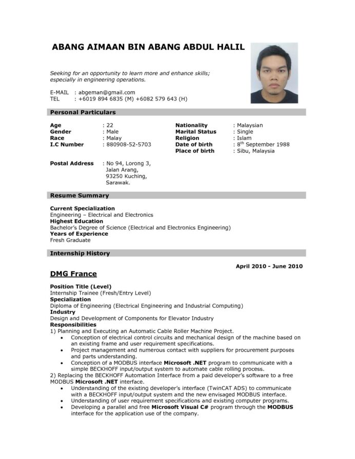 resume templates job format examples writing for application fedex package handler Resume Writing A Resume For A Job Application