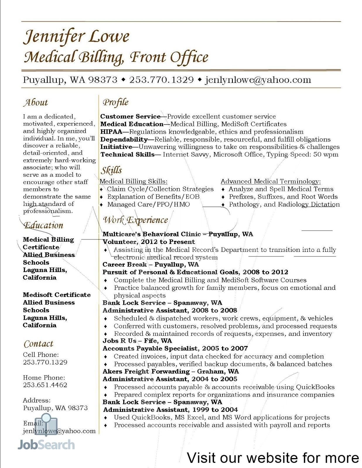 resume templates medical fresher in assistant billing and coding format for job company Resume Resume Format For Medical Coding Job