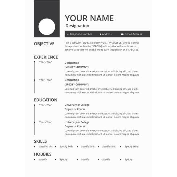 resume templates pdf free premium template blank reference sheet for windows writing Resume Cascade Resume Template Free
