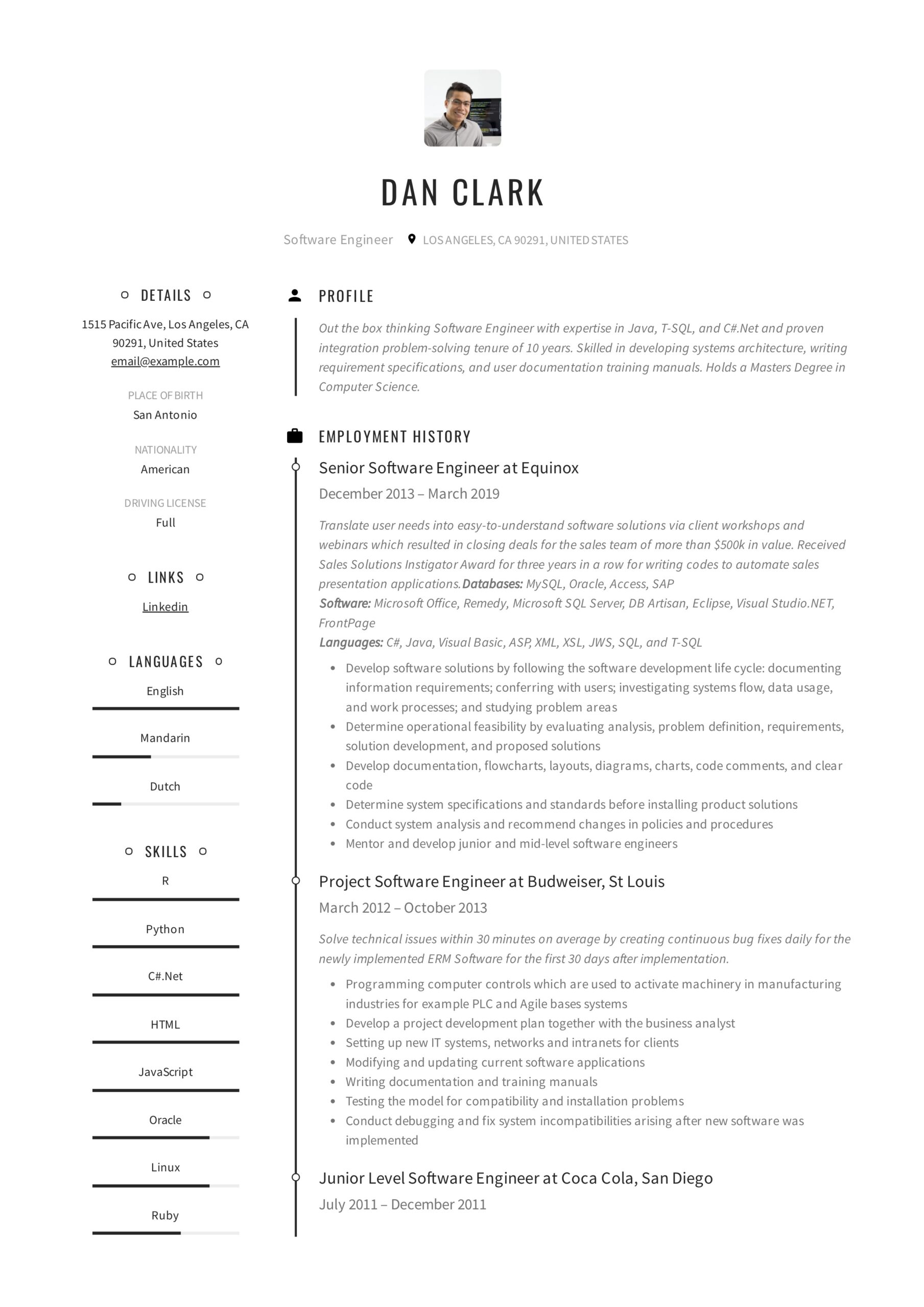 resume templates pdf word free downloads and guides dan software engineer sap ehs Resume Free Resume Templates 2020 Download
