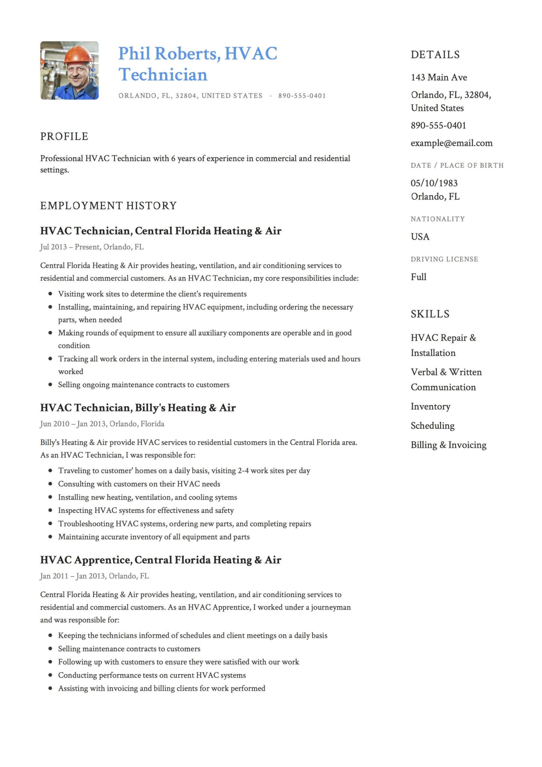 resume templates pdf word free downloads and guides professional job template hvac Resume Professional Job Resume Template