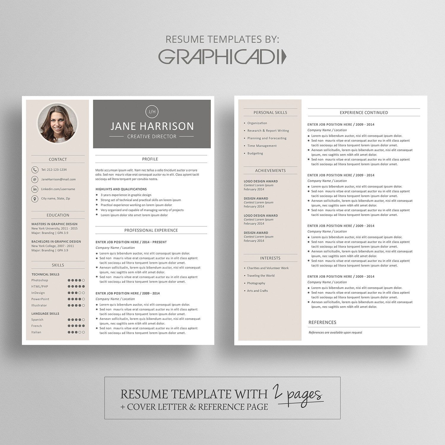 resume templates template word two create with photoshop free modern writing services Resume Two Page Resume Template Word