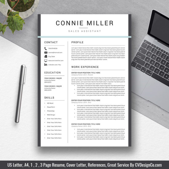 resume templates without photo cvdesignco template vdesignco the connie one 550x550 Resume Resume Template Without Photo