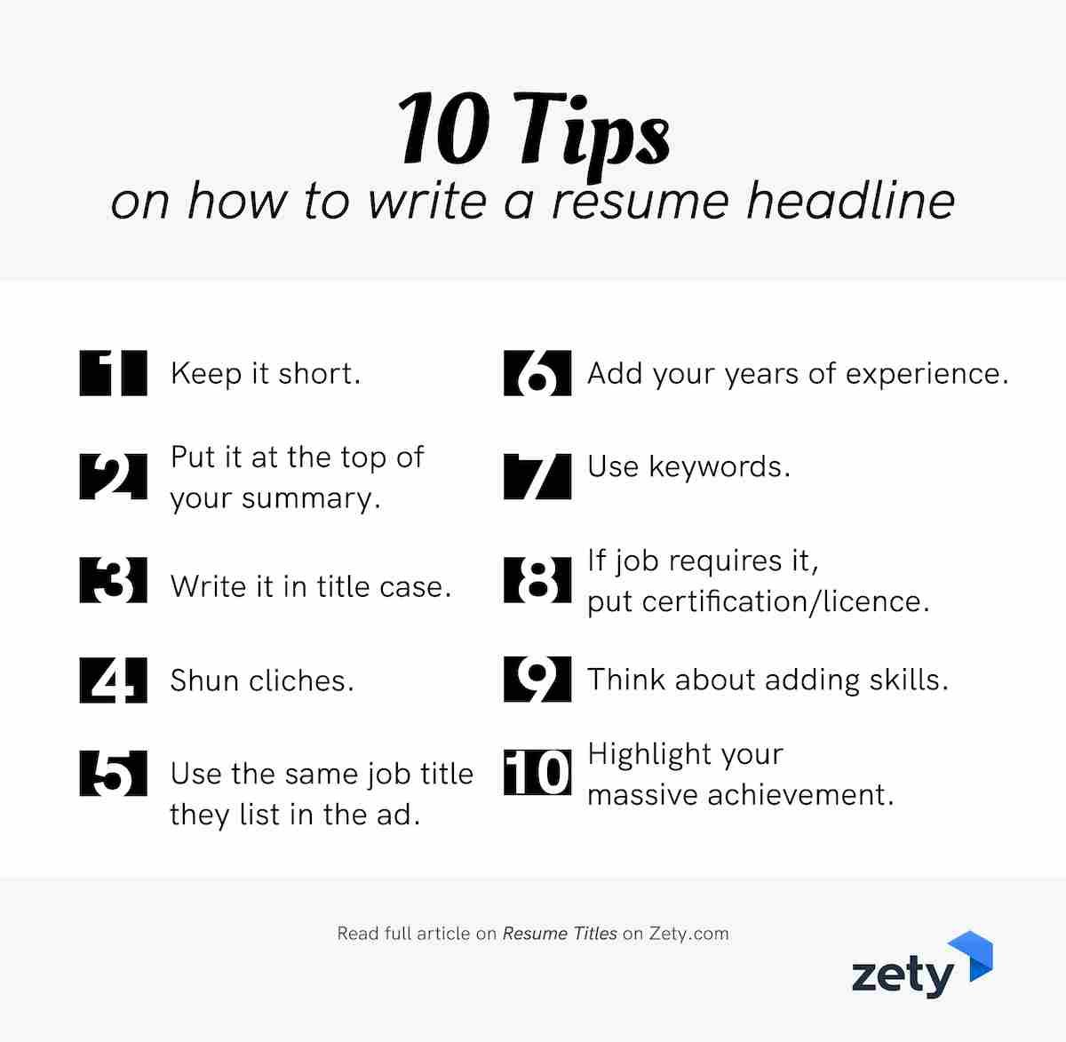 resume title examples good headline for any catchy titles example tips on to write Resume Catchy Resume Titles Example