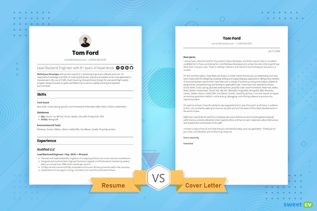 resume vs cover letter you need to know difference between and coverletter opt1080 Resume Difference Between Cover Letter And Resume
