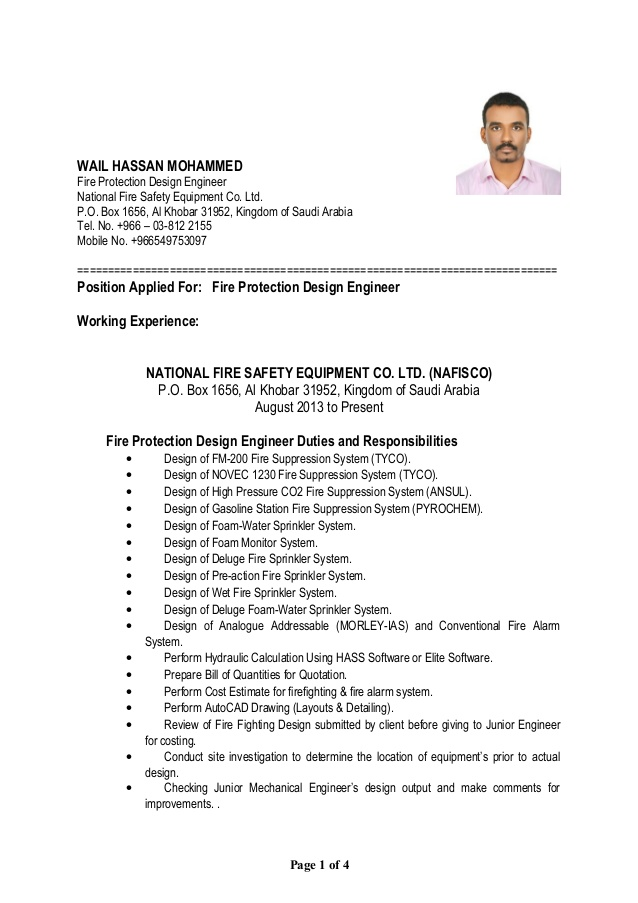 resume wail fire protection engineer resumewail should put home address on software Resume Fire Protection Engineer Resume