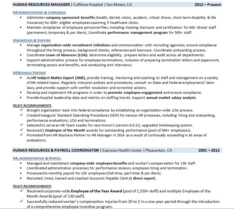resume work history examples and to write yours with one job employment example analyzer Resume Resume With One Job History