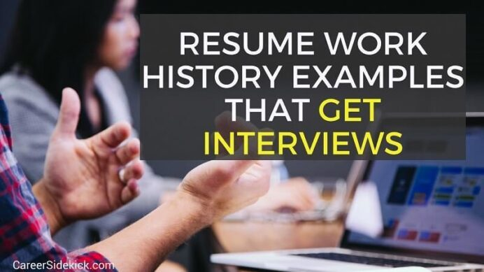 resume work history examples and to write yours with one job proven itil process manager Resume Resume With One Job History