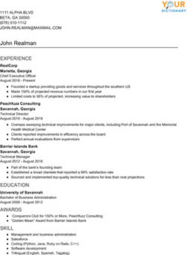 resume writing examples with simple effective tips structure of hronological example Resume Structure Of Resume Writing