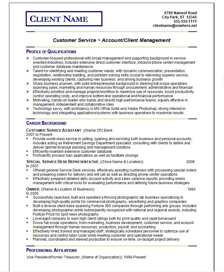 resume writing guild customer service example sample professional examples starter Resume Professional Resume Examples Resume Writing