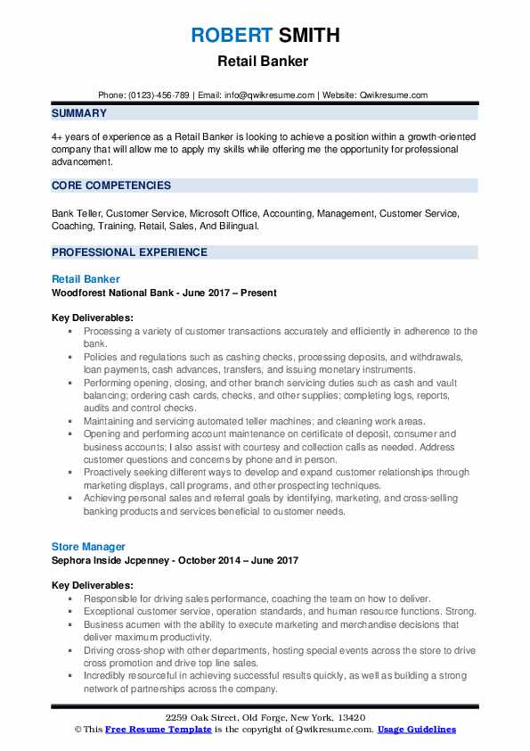 retail banker resume samples qwikresume jcpenney examples pdf for housekeeping job Resume Jcpenney Resume Examples