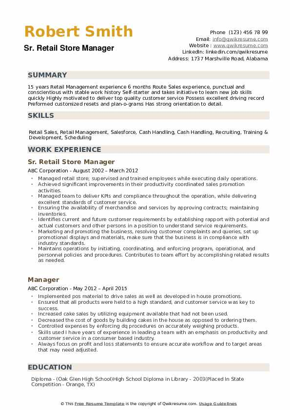 retail store manager resume samples qwikresume training pdf outline template free case Resume Retail Training Manager Resume