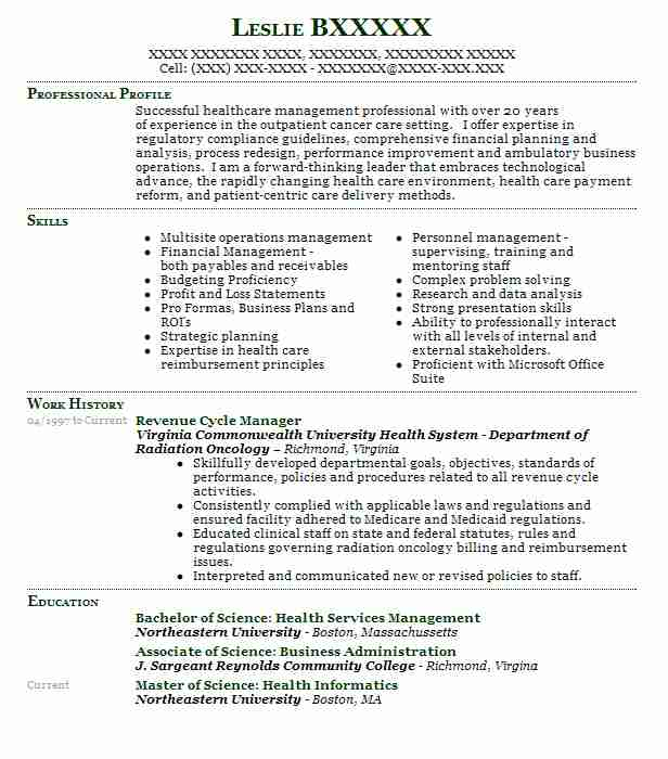 revenue cycle manager resume example fegs freeport new caretaker case management samples Resume Revenue Cycle Manager Resume