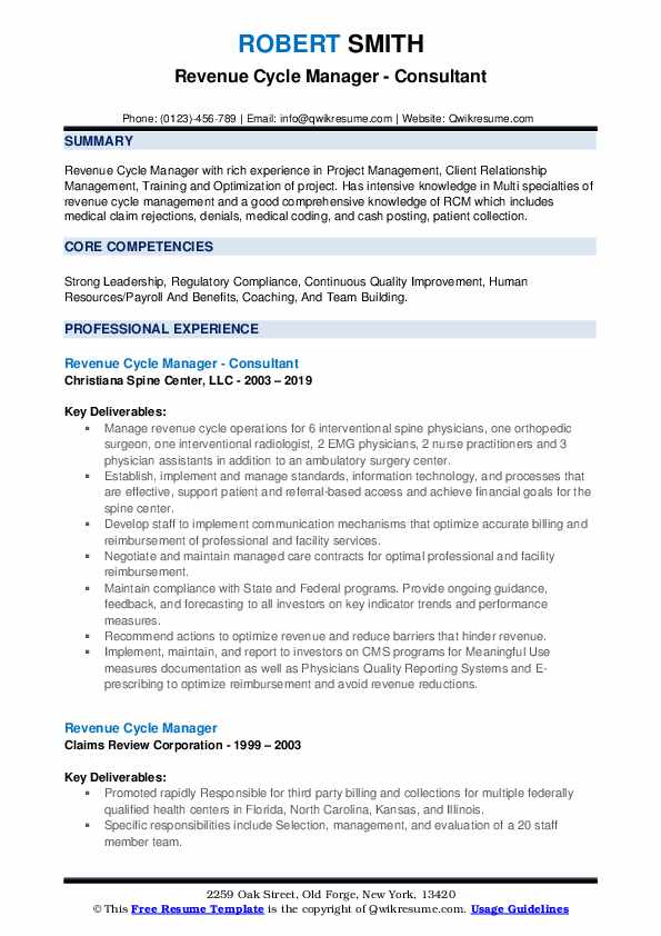 revenue cycle manager resume samples qwikresume pdf military examples accounting clerk Resume Revenue Cycle Manager Resume