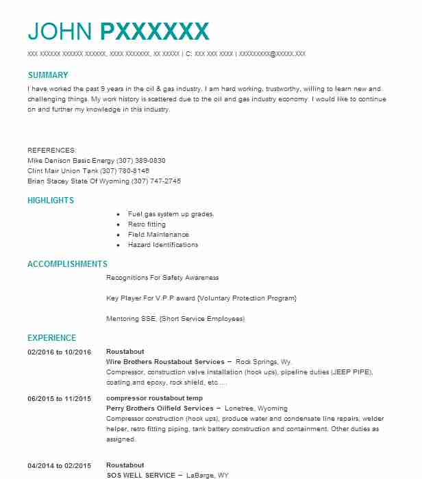 roustabout resume example ready oilfield services springs model upload for job personal Resume Roustabout Resume Model