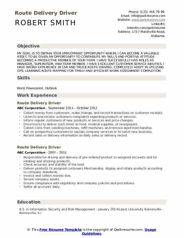 route delivery driver resume samples qwikresume sample pdf parsing software healthcare Resume Route Driver Resume Sample