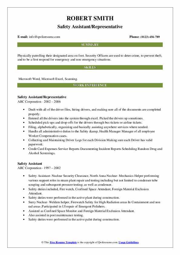 safety assistant resume samples qwikresume fire watch examples pdf make for job Resume Fire Watch Resume Examples