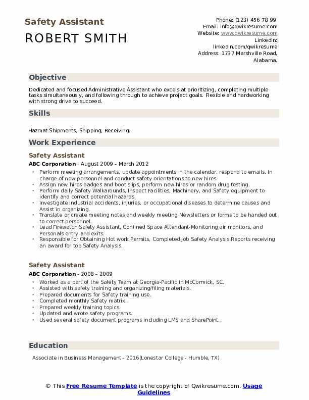 safety assistant resume samples qwikresume fire watch examples pdf vbscript on error next Resume Fire Watch Resume Examples