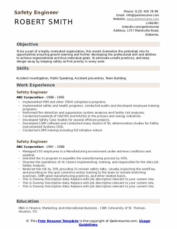 safety engineer resume samples qwikresume fire protection pdf delivery specialist Resume Fire Protection Engineer Resume