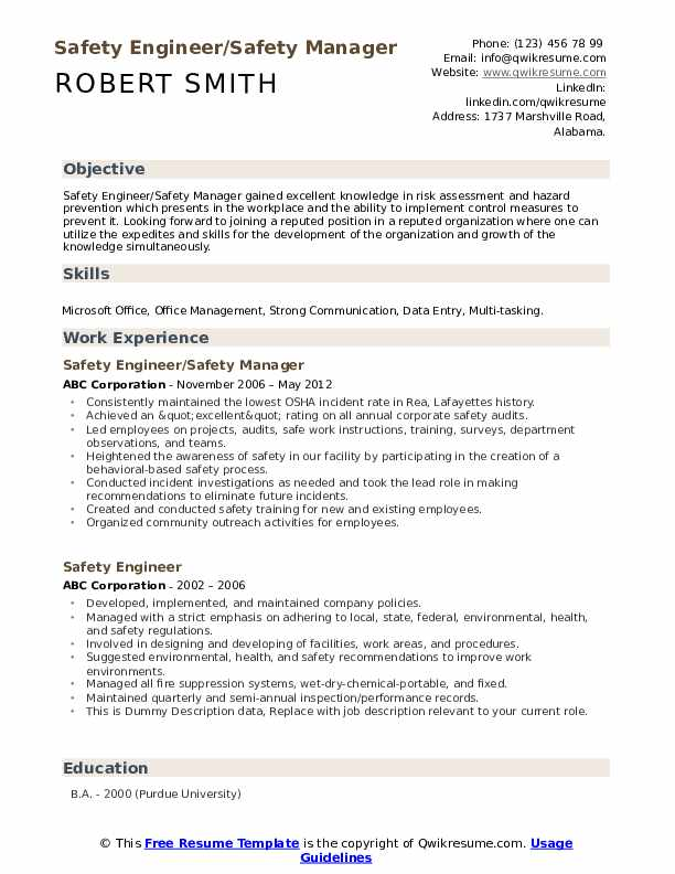 safety engineer resume samples qwikresume objective examples pdf goals for organizational Resume Engineer Resume Objective Examples
