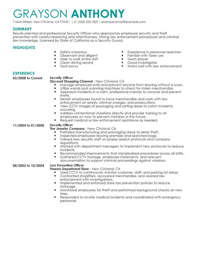safety officer resume example october security job description quality assurance duties Resume Security Job Description Resume