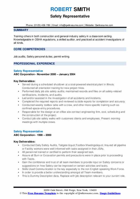 safety representative resume samples qwikresume fire watch examples pdf fashion Resume Fire Watch Resume Examples
