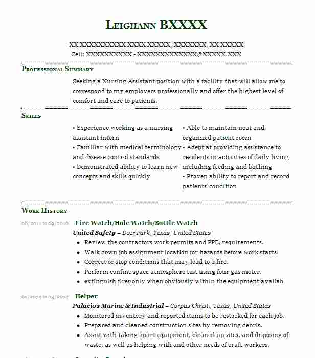 safety watch resume example hse integrated ltd edmonton fire examples broad objective Resume Fire Watch Resume Examples