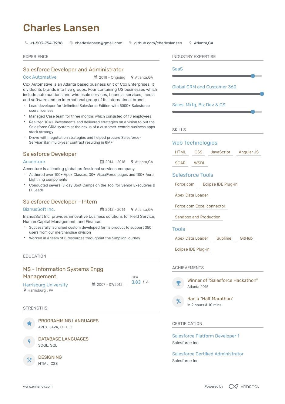 salesforce developer resume samples and writing guide for with images examples good Resume Salesforce Experience Resume Format