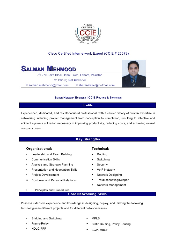 salman mahmood resume for network engineer with ccna fresher college job pipefitter Resume Resume For Network Engineer With Ccna Fresher