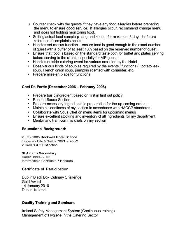 sample chef cv for overseas jobs resume employment chefcv first examples format fresher Resume Resume For Overseas Employment