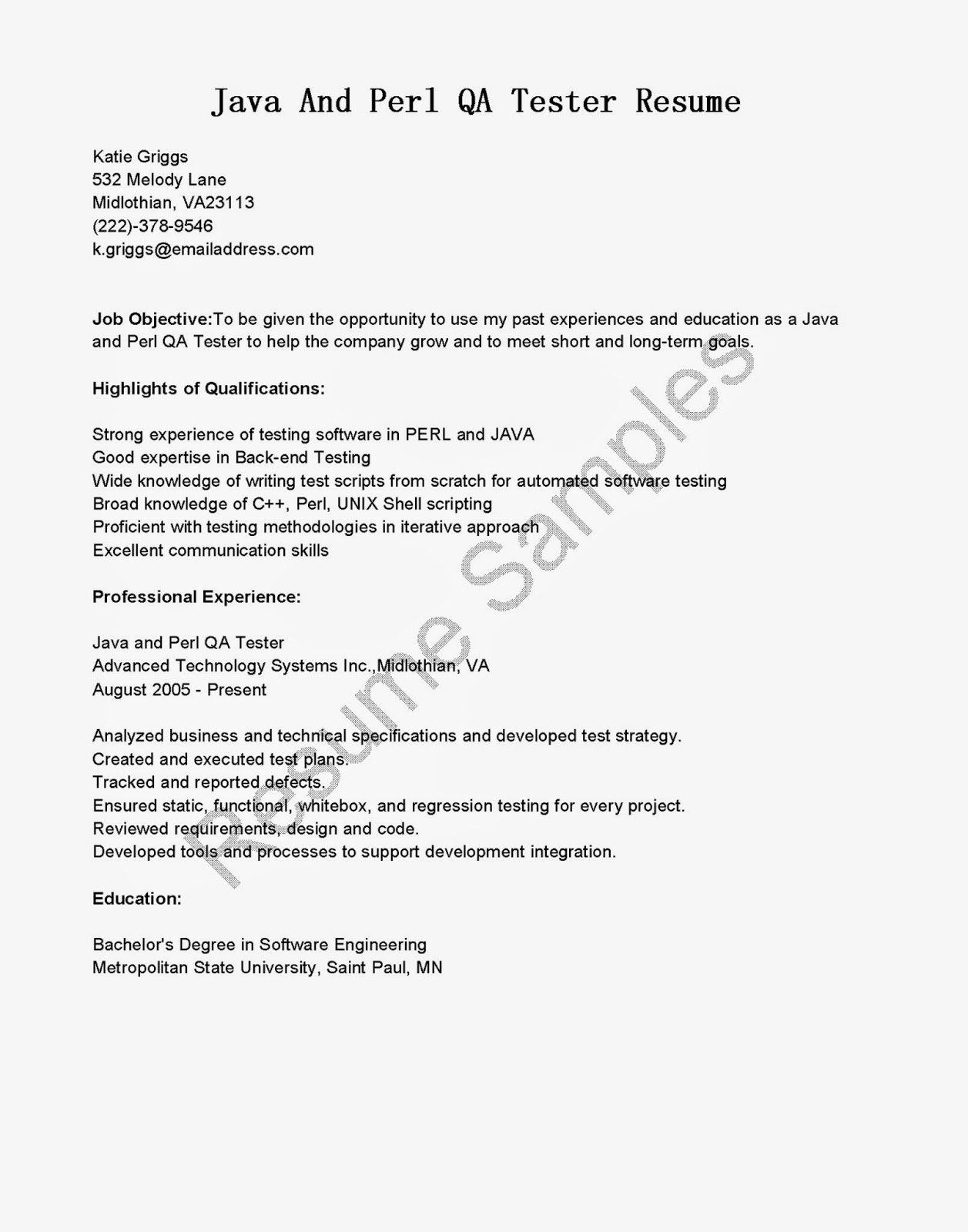 sample cover letter for software qa tester december box testing resume and perl federal Resume White Box Testing Resume Sample