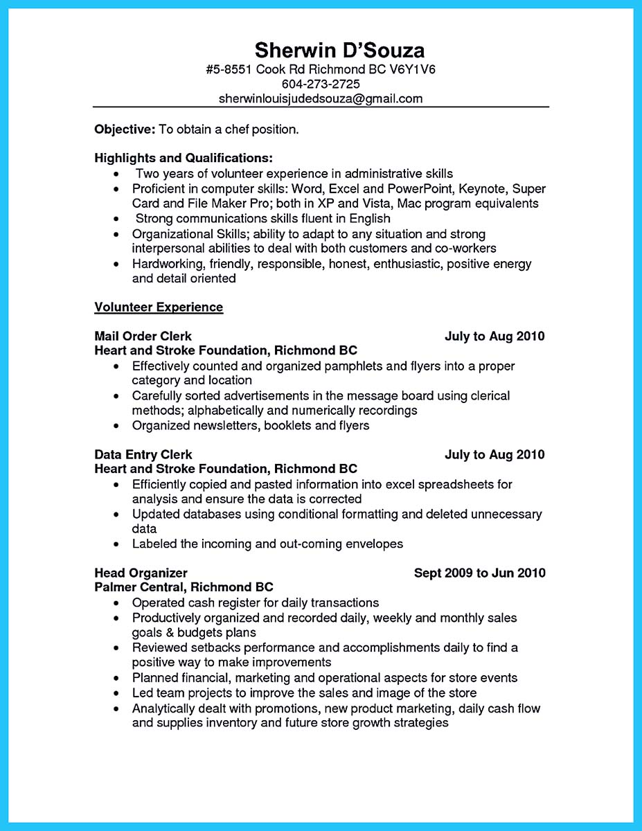 sample of resume top entry level culinary examples healthcare management vb6 on error le Resume Entry Level Culinary Resume Examples