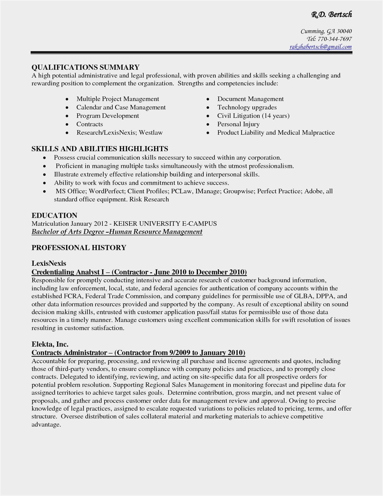 sample resume for administrative assistant skills summary example an entry level cna Resume Resume Summary Example For An Administrative Assistant