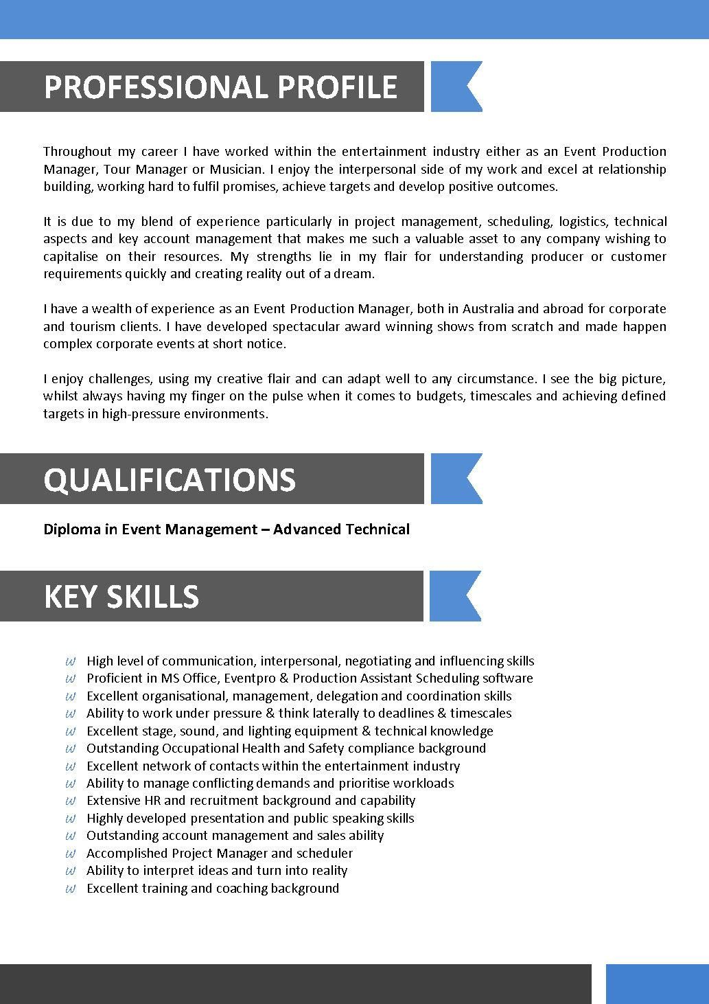 sample resume for entertainment industry best template templates free skills trauma Resume Entertainment Skills Resume