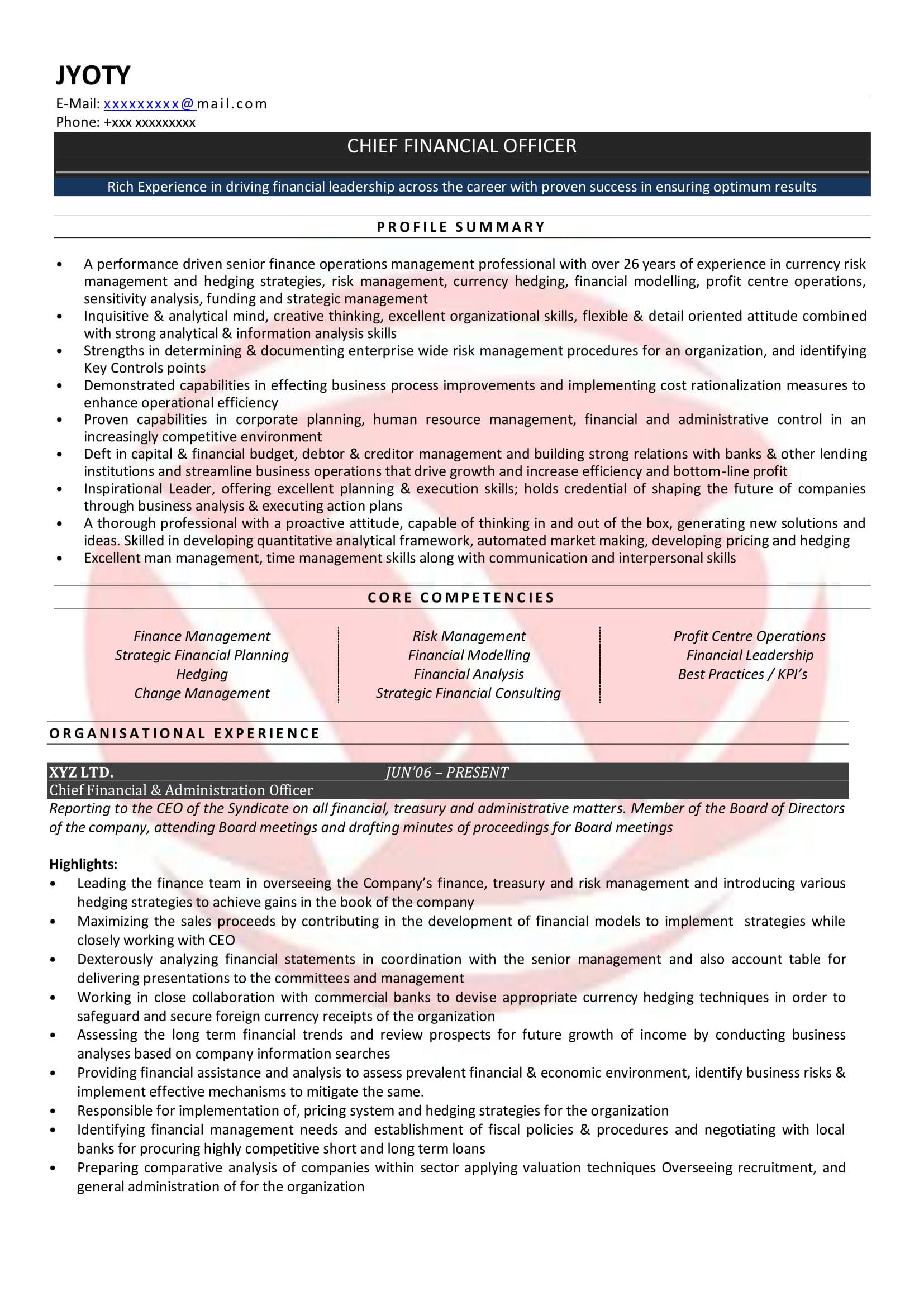 sample resumes resume format templates chartered accountant objective examples for Resume Chartered Accountant Resume Format Download